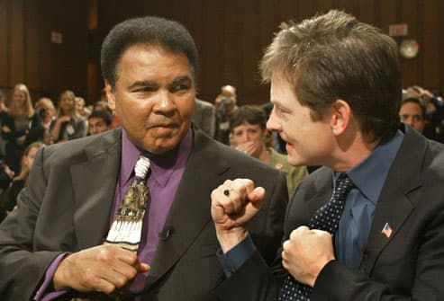 MIcheal J Fox and Muhammad Ali