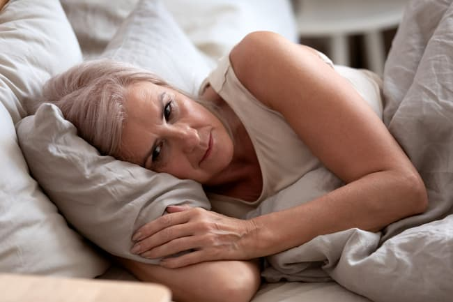 photo of mature woman with insomnia