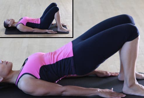 woman doing shoulder bridge