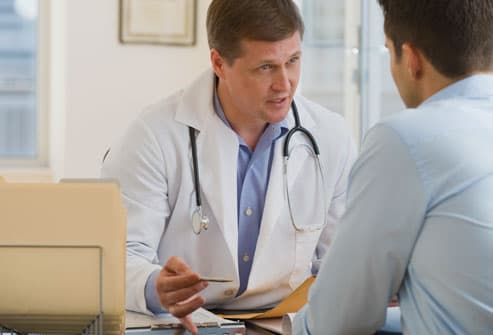 Doctor Talking to Patient about Psoriasis