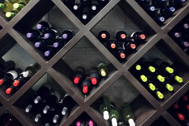 photo of wine rack