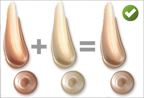 Illustration of blending concealer shades