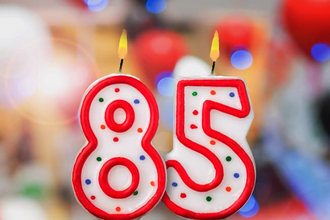candles that say 85