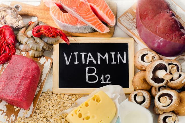 photo of foods containing vitamin b12