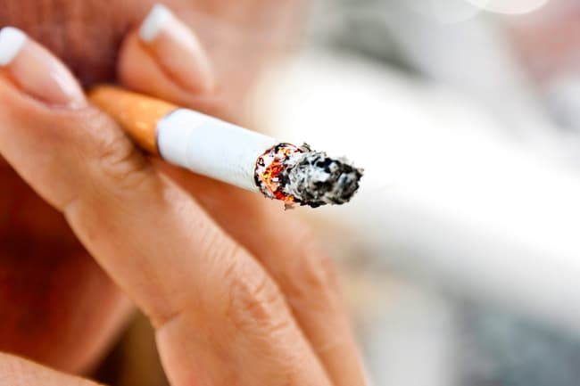 photo of lit cigarette