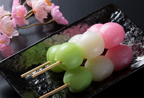 Japanese sweet rice balls