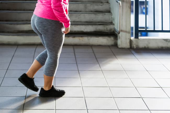 photo of walking for exercise