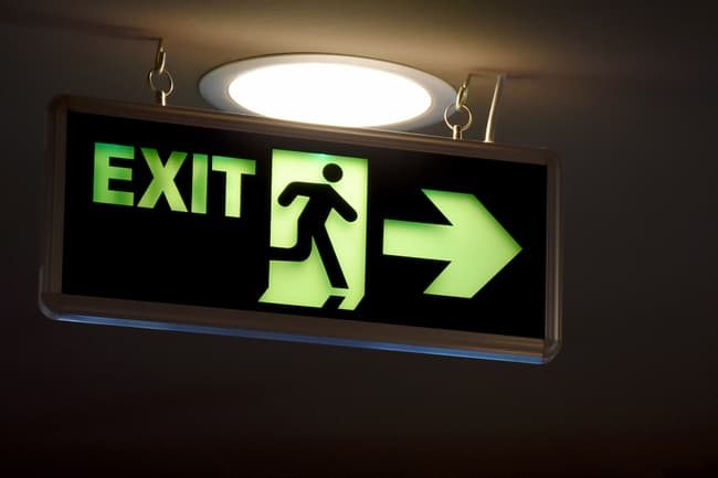 photo of exit sign