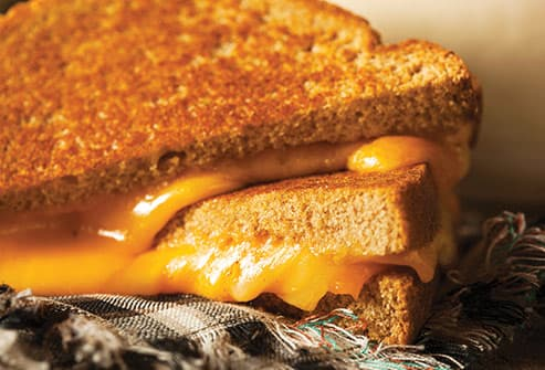 grilled cheese sandwich close up