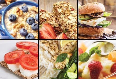 six panel healthy meals