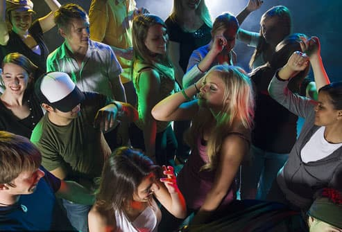 Young People At A Dance Club