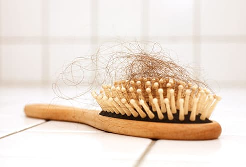 hairbrush full of hair