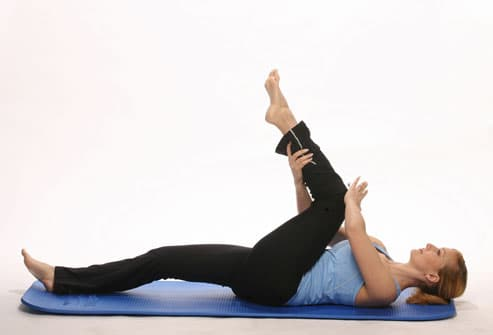 Woman stretching out