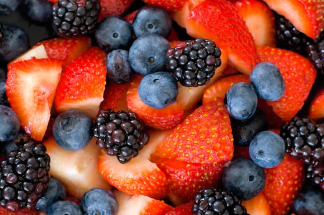 photo of bowl of mixed berries