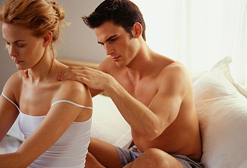 man massaging spouse