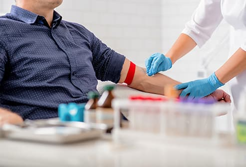 man getting blood drawn