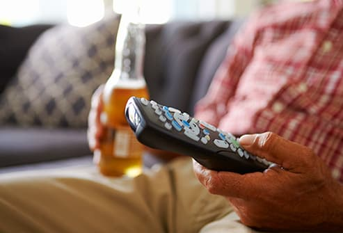 beer and remote