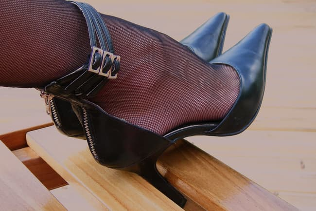 photo of pointy heels