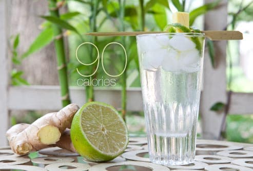 ginger and lime cocktail