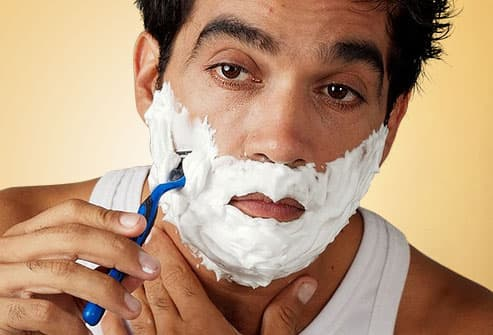 Sleep Deprived Man Shaving