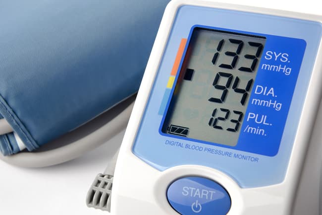 photo of blood pressure monitor