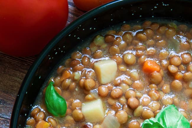 photo of cooked lentils