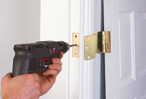installation of expandable door hinges