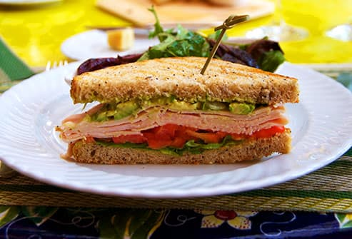 half turkey sandwich