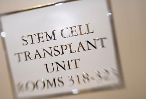 stem cell transpant unit sign in hospital