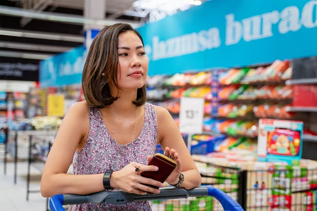 photo of woman grocery shopping