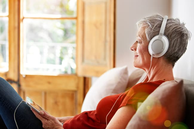 photo of listening to music