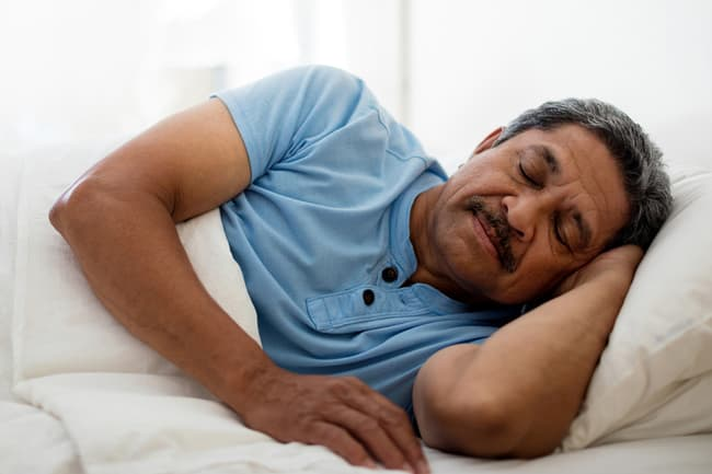 photo of sleeping in bed