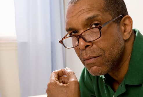 Older Man Contemplating Stroke Risks