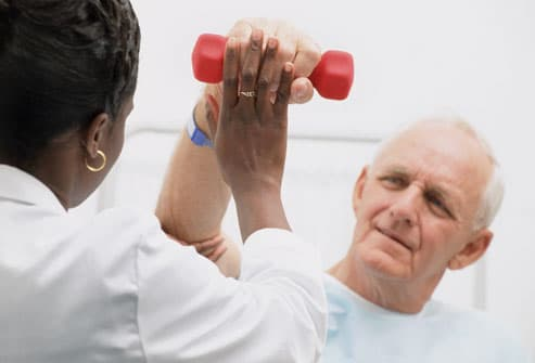 Stroke Patient Undergoing Physical Therapy