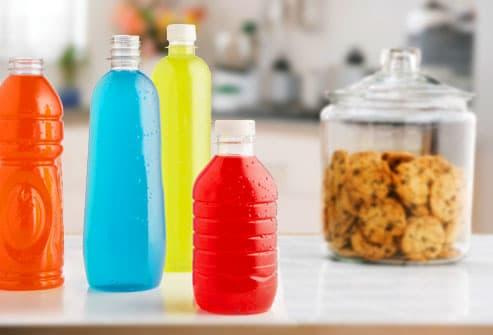 Sugary drinks compared to jar of cookies