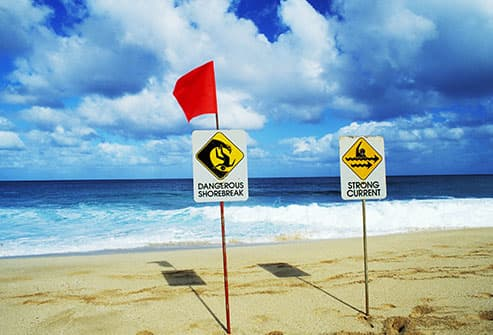 surf warning flags