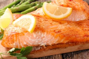 photo of cooked salmon fillets