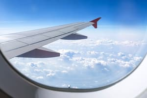 photo of view from window of airplane