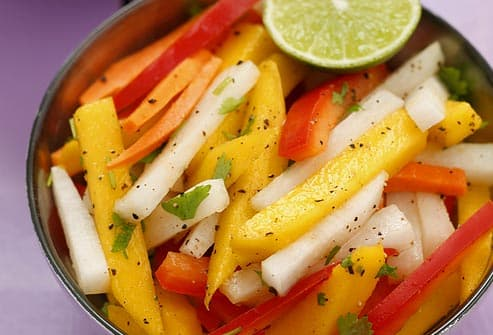 mango and jicama with lime