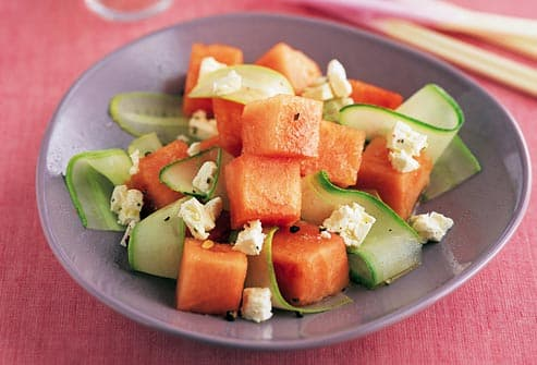 melon and cucumber with fish sauce