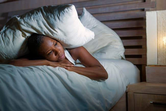 photo of woman with insomnia