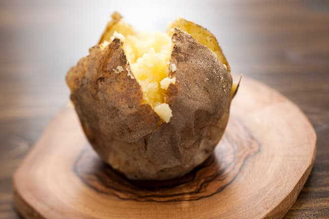 photo of baked potato