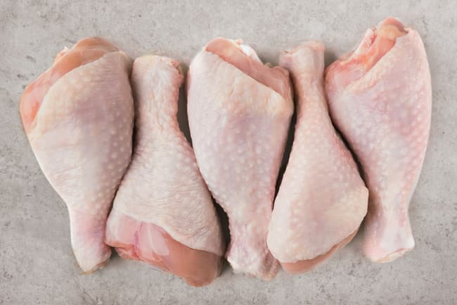 photo of raw chicken on counter