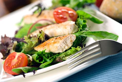 chicken filet with garden salad
