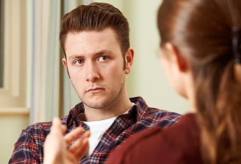 young man in anger counseling