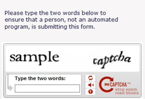 captcha security prompt