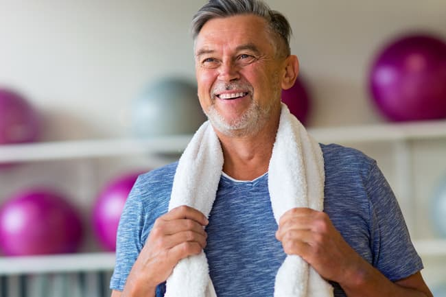 mature man exercising