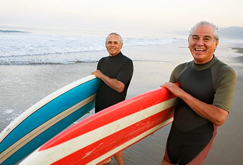 mature male surfers