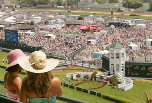 Churchill Downs before the Kentucky Derby