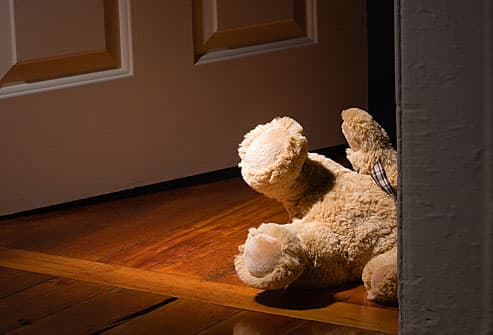 teddy bear on floor